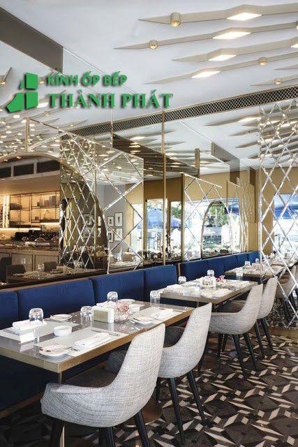 Kính thủy trang trí nhà hàng - quán ăn