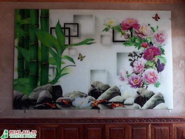 tranh kính dán tường