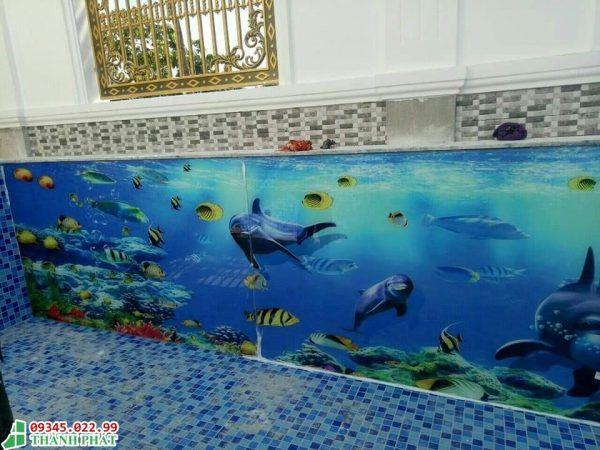 tranh kính ốp tường phòng tắm
