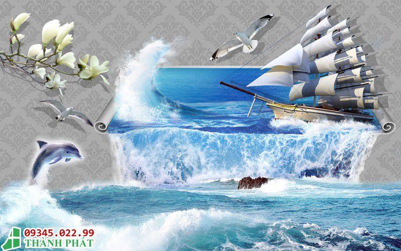 Cách treo tranh kính thuận buồm xuôi gió