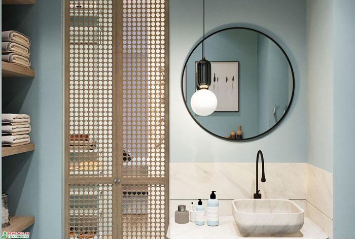 Kính trang trí nghệ thuật cho phòng tắm
