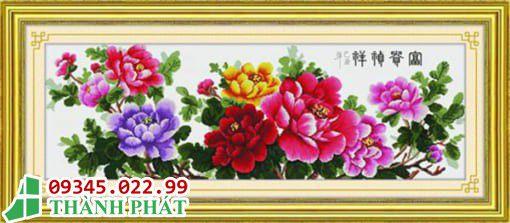 Tranh kính hoa đẹp