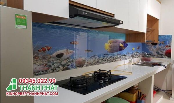 kính bếp 3D biển cả