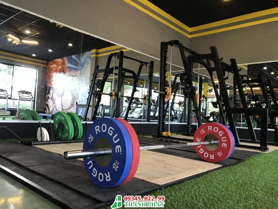 gương ốp tường phòng tập gym